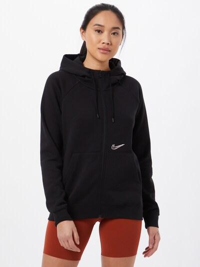 Nike Sportswear Tepláková bunda - čierna: Pohľad spredu