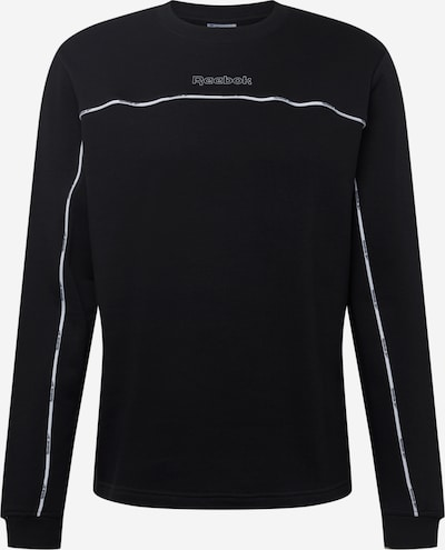 Reebok Sport Sweatshirt in schwarz / weiß, Produktansicht