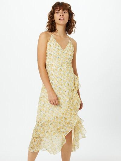 Abercrombie & Fitch Kleid 'Ruffle' in pastellgelb / weiß, Modelansicht