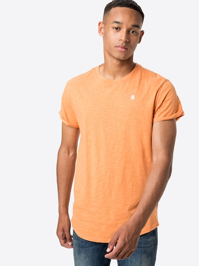 narancs / fehér G-Star RAW Póló 'Lash': Elölnézet