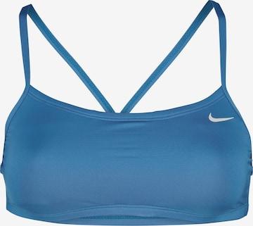 Nike Swim Bikini Top in Blau