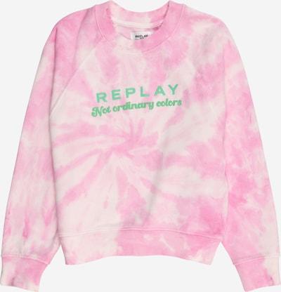 REPLAY Sweatshirt in de kleur Lichtgroen / Rosa / Wit, Productweergave