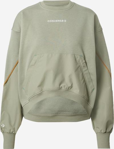 CONVERSE Sweatshirt in cognac / oliv / weiß, Produktansicht
