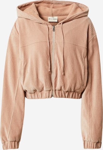 A LOT LESS Zip-Up Hoodie 'Cleo' in Pink