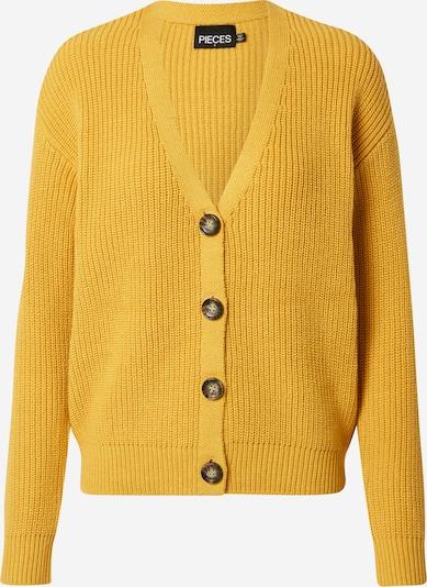 PIECES Strickjacke 'Karie' in gelb, Produktansicht