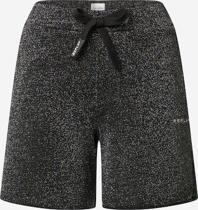 REPLAY Shorts in gold / schwarz / silber, Produktansicht