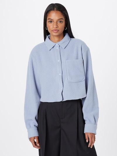 WEEKDAY Bluse in rauchblau, Modelansicht