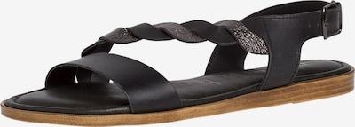 TAMARIS Remienkové sandále - čierna / strieborná, Produkt