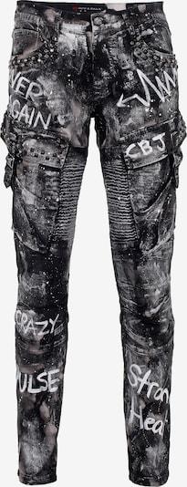 CIPO & BAXX Jeans 'CD572' in de kleur Zwart, Productweergave