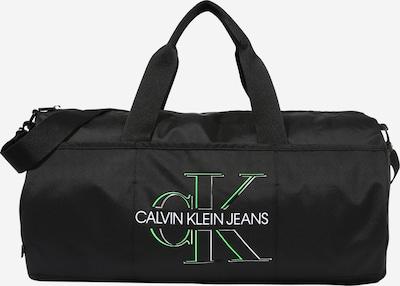 Calvin Klein Jeans Matkakassi 'Barrel' värissä kiivi / musta / valkoinen, Tuotenäkymä