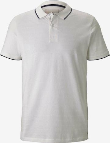 TOM TAILOR Тениска в бяло