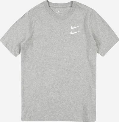 Nike Sportswear Shirt in graumeliert / weiß: Frontalansicht