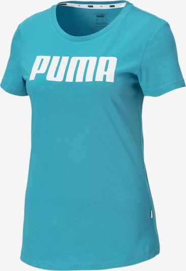 PUMA Essentials Damen T-Shirt in blau / weiß, Produktansicht