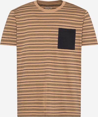 EDC BY ESPRIT T-Shirt in hellbeige / schwarz, Produktansicht