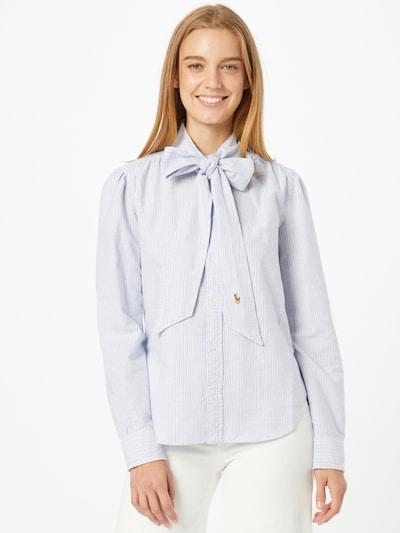 Bluză Polo Ralph Lauren pe albastru deschis / alb, Vizualizare model