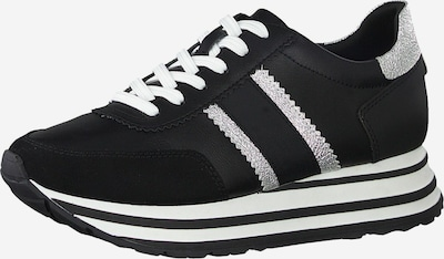 TAMARIS Sneaker in schwarz / silber, Produktansicht