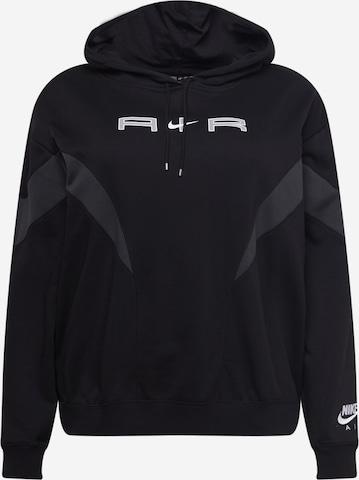 Bluză de molton de la Nike Sportswear pe negru