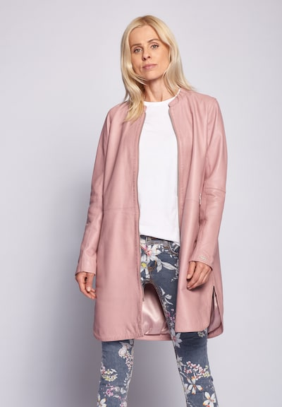 Maze Between-Seasons Coat '420-20-40' in Pink, View model