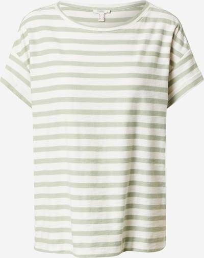 ESPRIT Shirts i pastelgrøn / hvid, Produktvisning