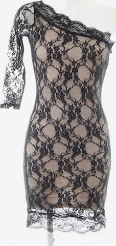 RARE LONDON One-Shoulder-Kleid in XS in Schwarz