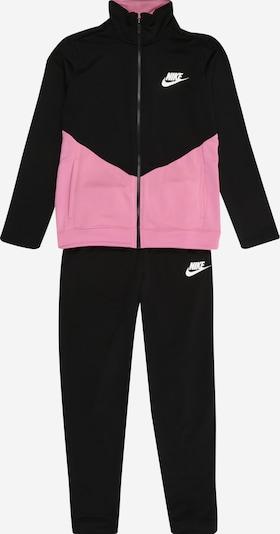 Nike Sportswear Jogginganzug in rosa / schwarz, Produktansicht