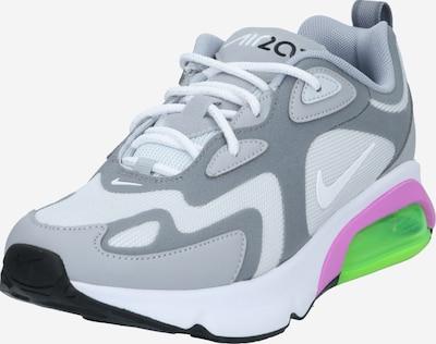 Nike Sportswear Sneaker 'Air Max 200' in hellgrau / graumeliert / limette / lila, Produktansicht