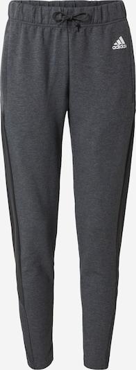 ADIDAS PERFORMANCE Pantalon de sport en anthracite / gris basalte / blanc, Vue avec produit