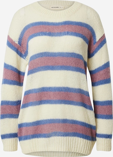 24COLOURS Pullover in marine / beere / weiß, Produktansicht
