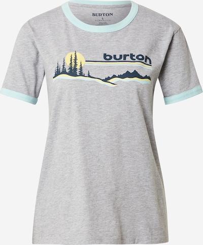 BURTON Sportshirt 'CARLOW' in blau / hellblau / hellgelb / graumeliert, Produktansicht