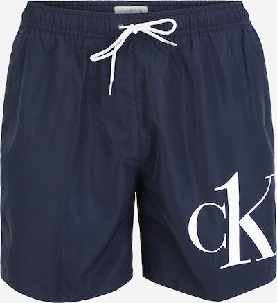 Calvin Klein Swimwear Kupaće hlače 'DRAWSTRING' u morsko plava / bijela, Pregled proizvoda