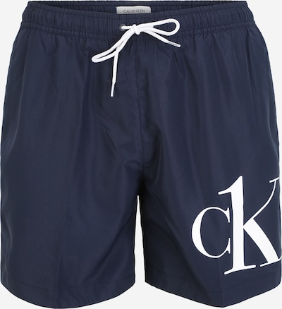 Calvin Klein Swimwear Plavecké šortky 'DRAWSTRING' - marine modrá / bílá, Produkt