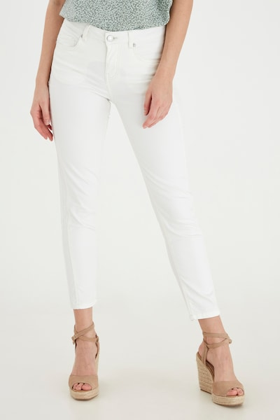 Fransa Jeans slim fit in weiß, Modelansicht