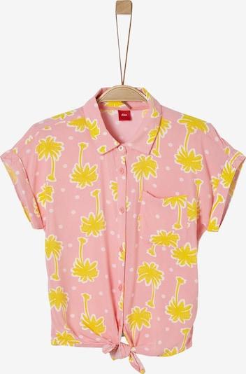 s.Oliver Bluse in gelb / rosa / weiß, Produktansicht