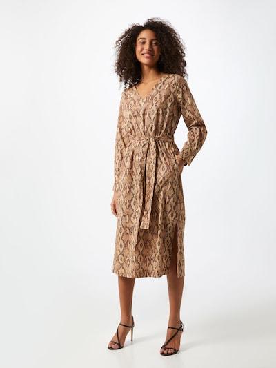 Rochie tip bluză 'AFFRA' DRYKORN pe maro / maro deschis, Vizualizare model