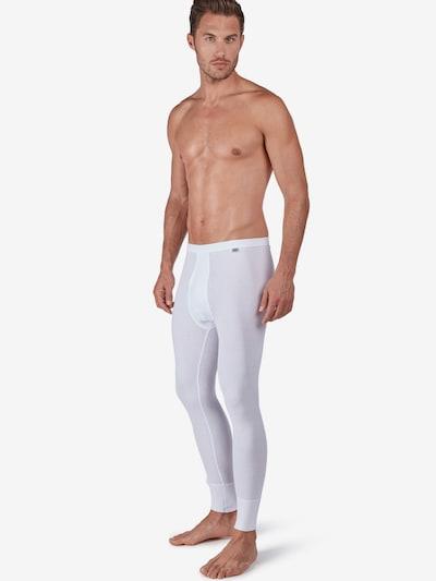 HUBER Lange Unterhose ' mit Eingriff Cotton Fine Rib ' in weiß, Modelansicht