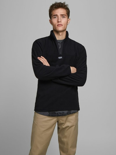 JACK & JONES Sweatshirt in de kleur Zwart: Vooraanzicht