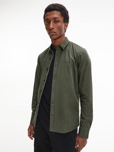 Calvin Klein Hemd in dunkelgrün: Frontalansicht