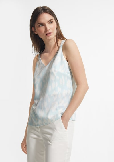COMMA Top in azur / weiß, Modelansicht