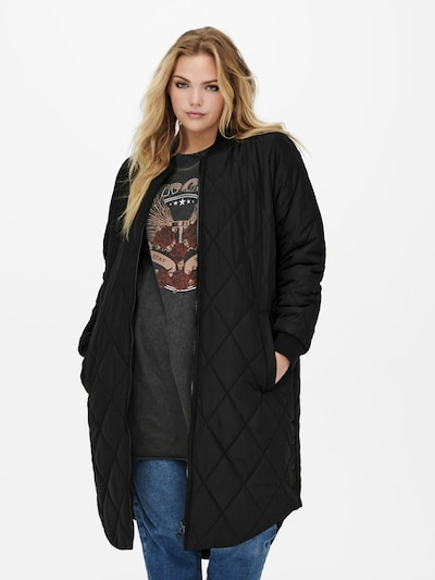 ONLY Carmakoma Between-Seasons Coat 'CARROT' in Black, View model