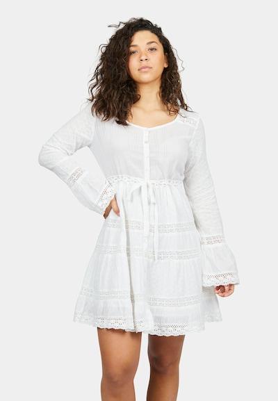 Isla Ibiza Bonita Kleid 'SUN' in weiß, Modelansicht