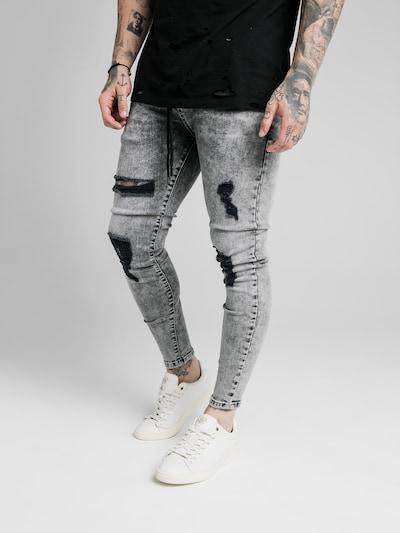 SikSilk Džíny - šedá džínová, Model/ka