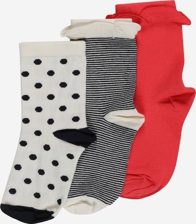 PETIT BATEAU Socken 'CHAUSSETTES' in rot / weiß, Produktansicht