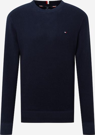 TOMMY HILFIGER Pullover in dunkelblau / rot / weiß, Produktansicht