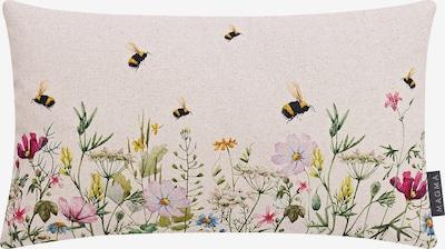 MAGMA Kissenhülle 'Biene & Co.' in beige / mischfarben, Produktansicht