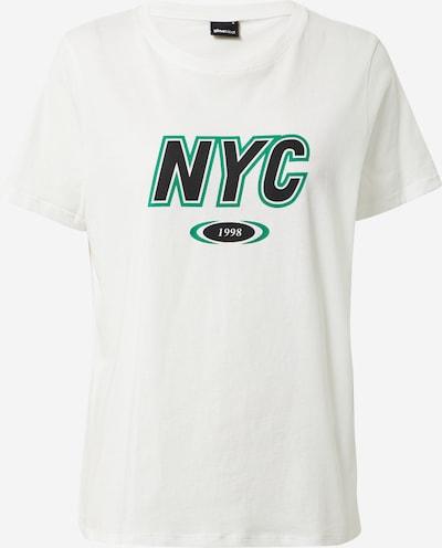 Gina Tricot Shirt 'Ida' in grün / schwarz / weiß, Produktansicht