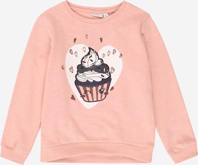 NAME IT Sweatshirt in braun / dunkelgrau / rosa / dunkelrot / weiß, Produktansicht