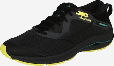 MIZUNO Chaussure de course 'WAVE RIDER GTX 2' en jaune / gris / noir, Vue avec produit
