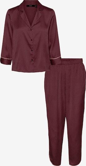 VERO MODA Pyjama 'Beate' in de kleur Bloedrood / Wit, Productweergave