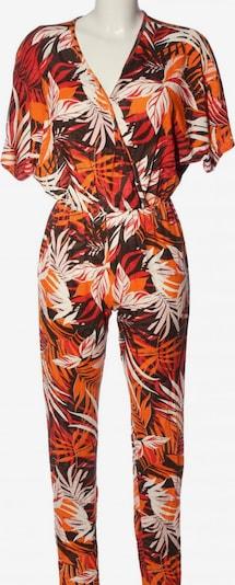 Club L Jumpsuit in L in hellorange / schwarz / weiß, Produktansicht