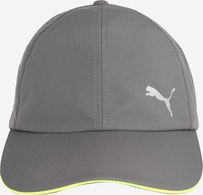 Șapcă sport PUMA pe gri fum / limetă, Vizualizare produs
